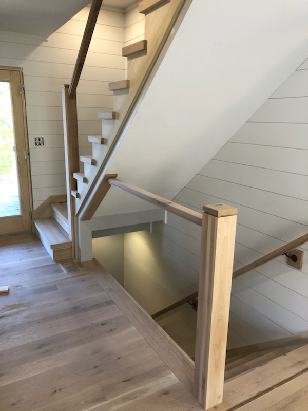 White Oak Landing Tread to Match Stair Tread Nosing